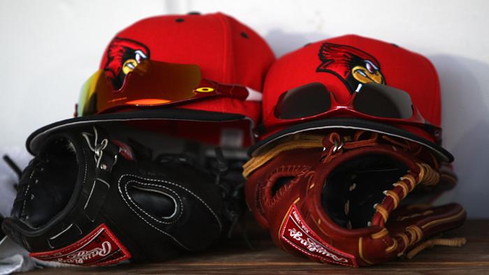 Illinois State Baseball equipment
