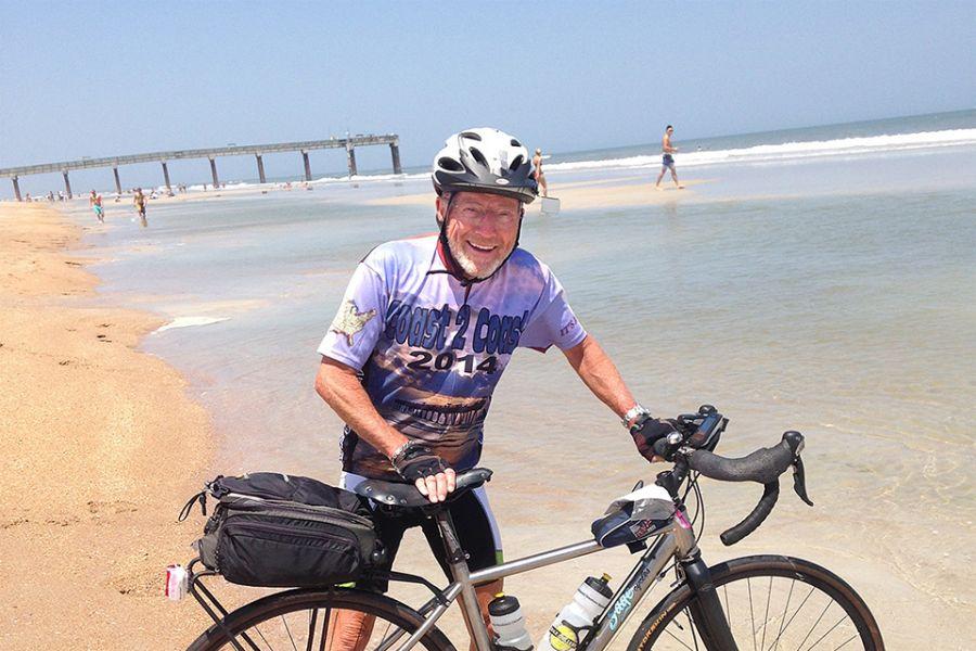 Ron Williams on Florida beach