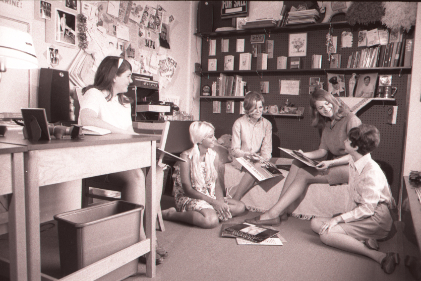 Students in a Watterson room 1969