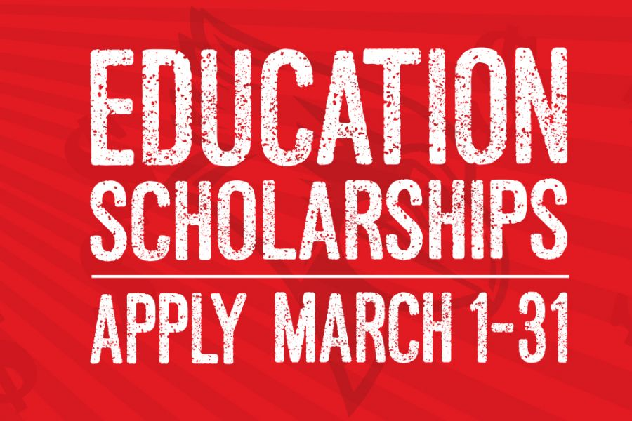 The scholarship application period begins Sunday, March 1 and ends Tuesday, March 31