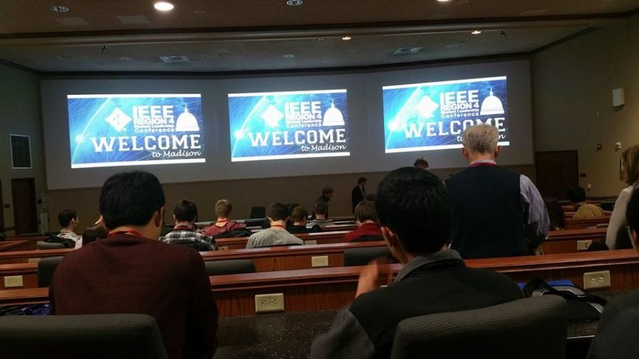 Students at IEEE conference