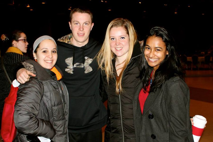 students at a Dean of Students event