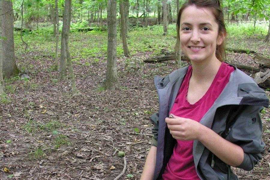 Meghan Strange in the woods