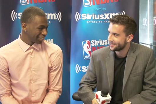 Scott Gleeson interviewing top prospect Andrew Wiggins