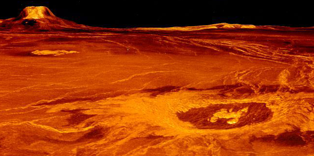 image of craters on venus