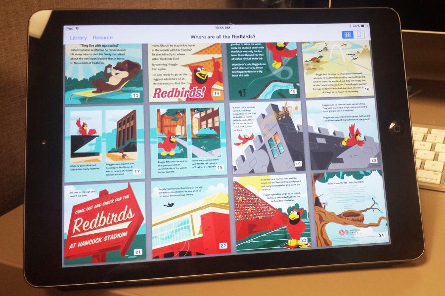Reggie book on an iPad