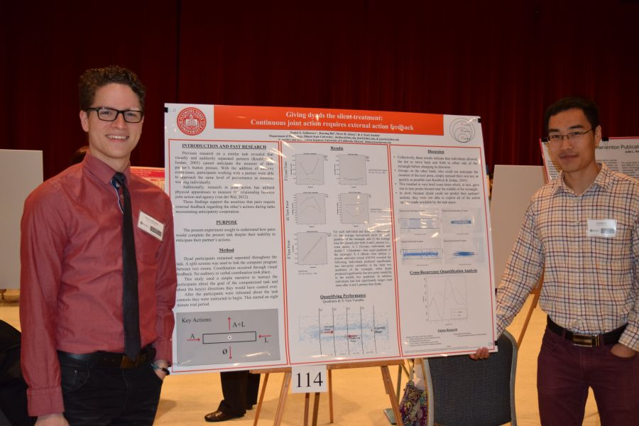 Psychology students at research symposium