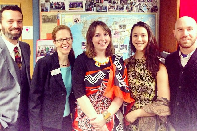 Peace Corps alums in the office