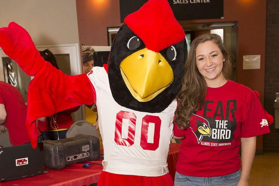 Redbird and student