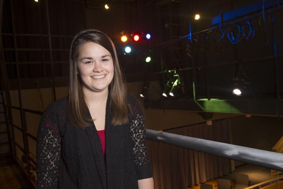 Melissa Brundidge in a theater
