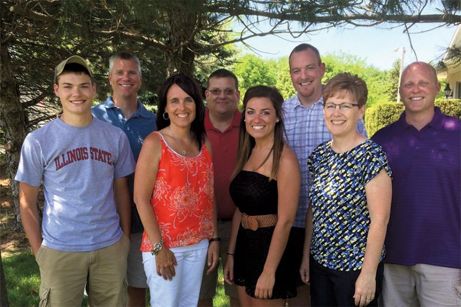 Froelich family poses for photo
