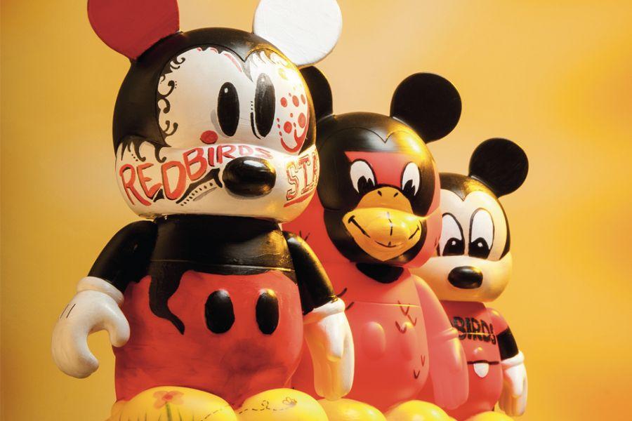 Three Mickey Mouses with ISU graphics