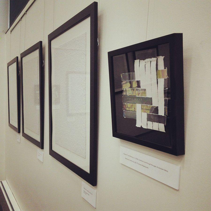 Four pieces of framed artwork