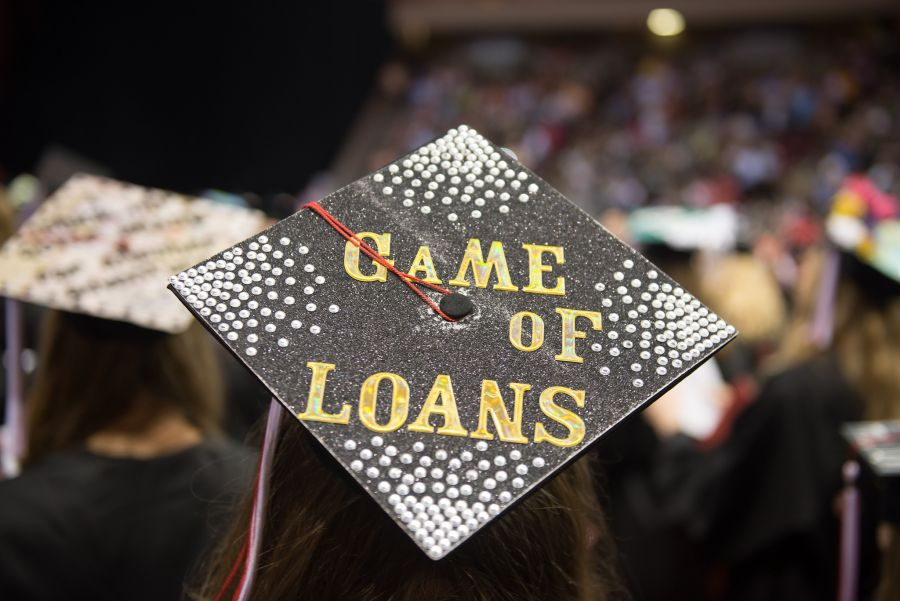 Student loan mortarboard