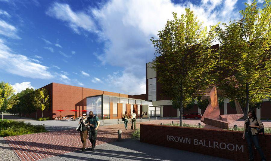 Brown Ballroom design