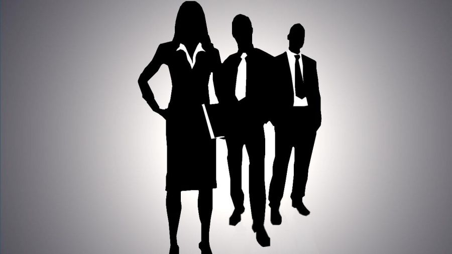 image of men and women in business attire