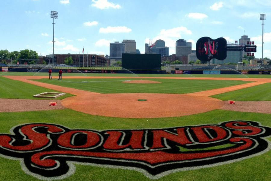 view of ballpark from homeplate