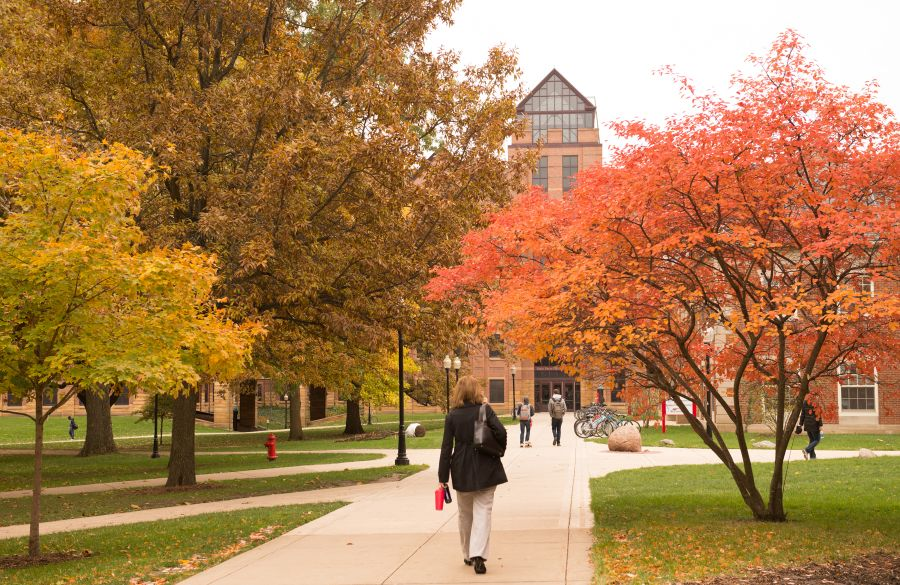 The Quad at Illinois State University.