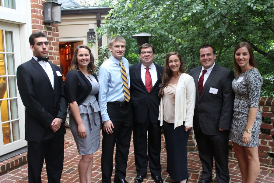 Dietz poses with summer interns