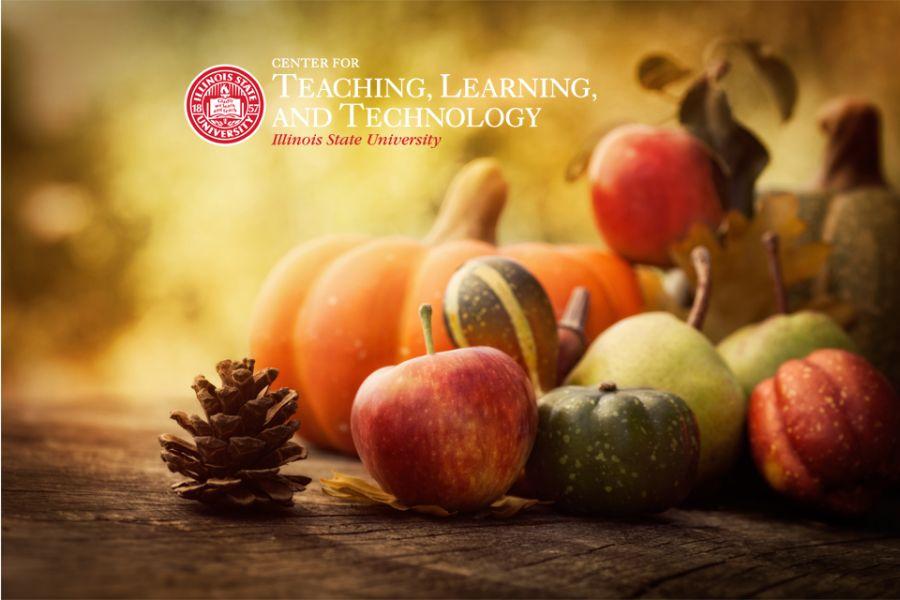 Fall foliage wilth CTLT logo