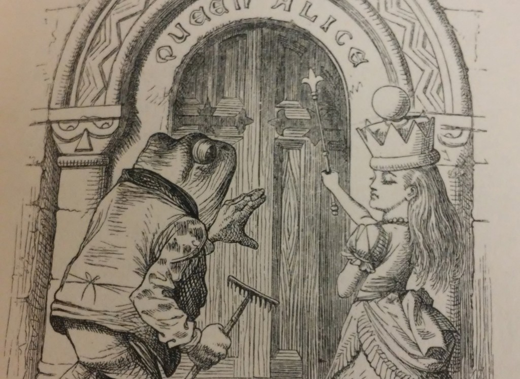 """""""Queen Alice"""" from the first edition of Through the Looking Glass, from the Milner Library Special Collections."""