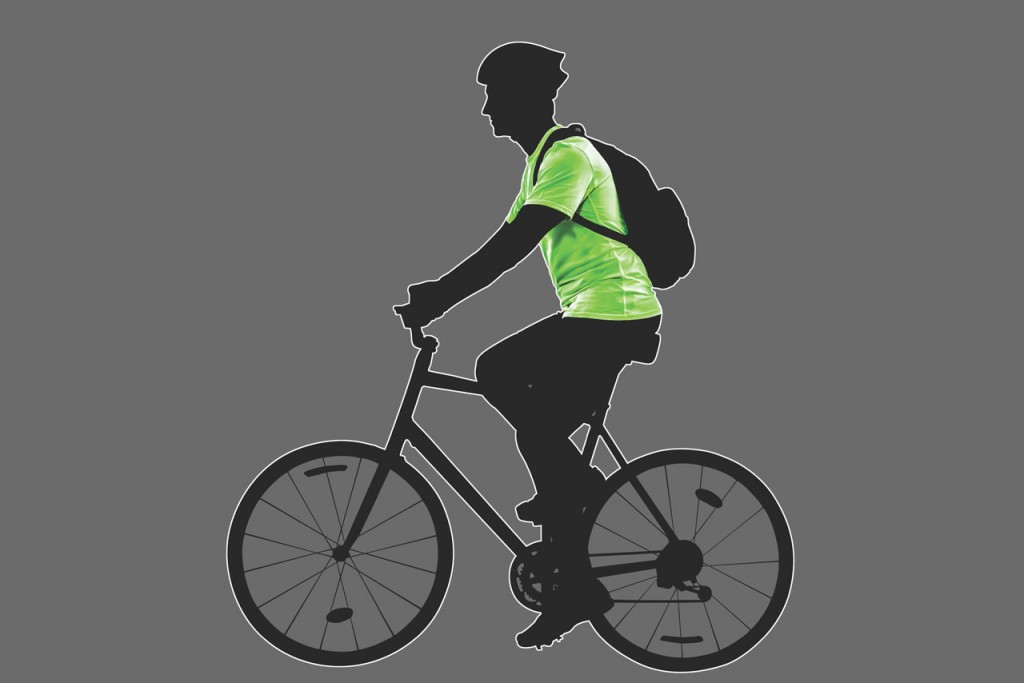 Illustration of someone riding a bike