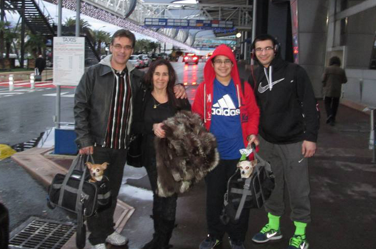 image of Ivan Stoniev, right, and his family.