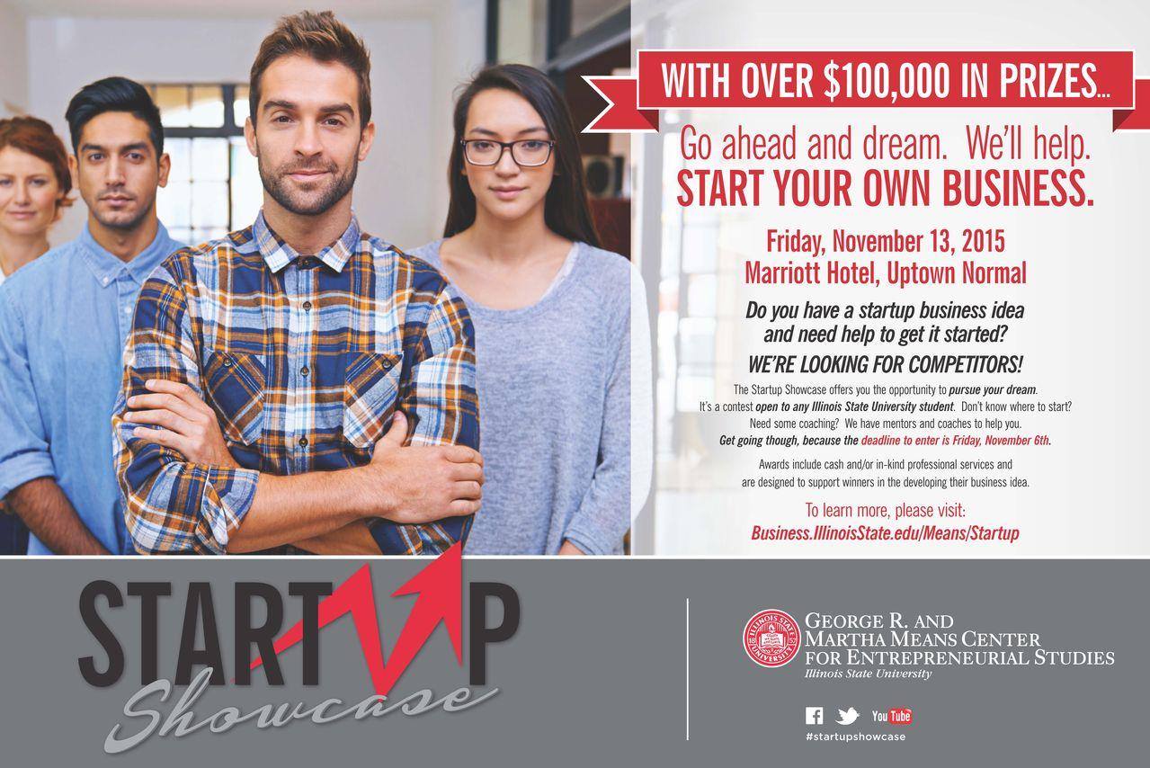 Startup Showcase poster