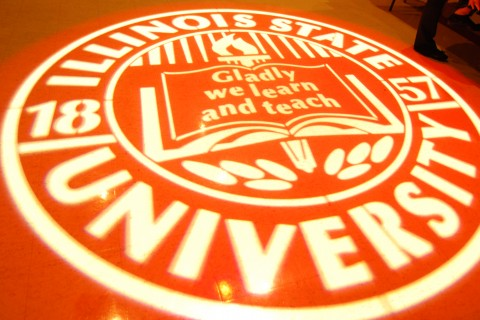 ISU seal projected