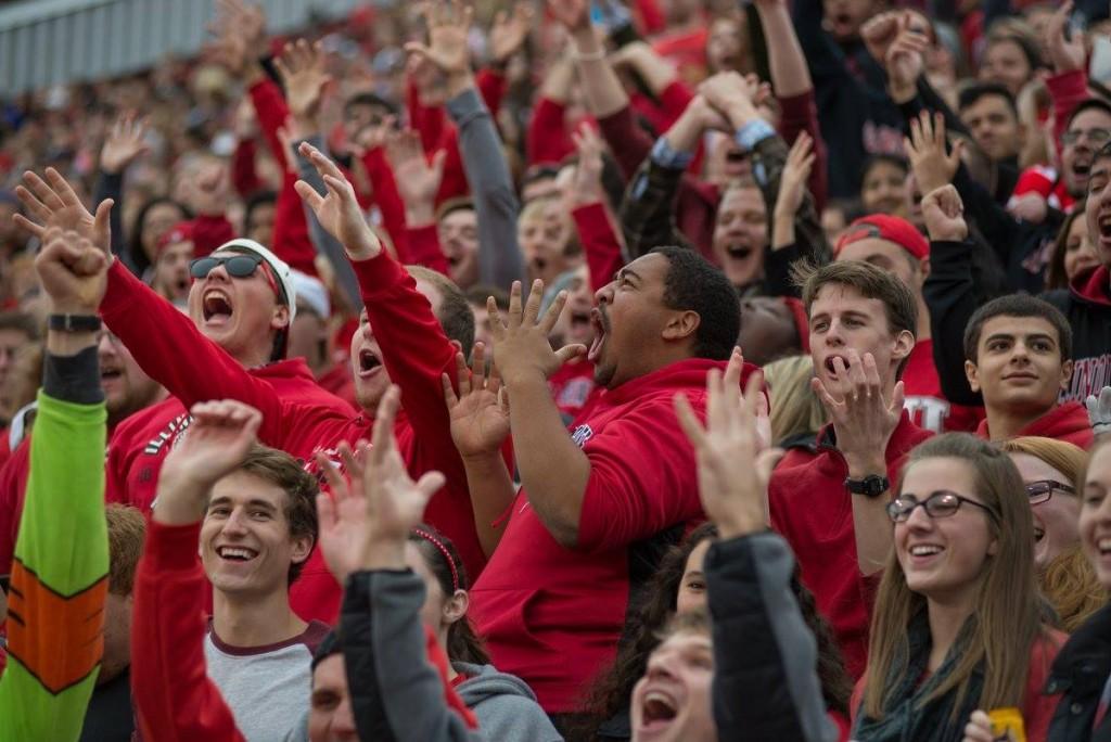 Homecoming football fans celebrates