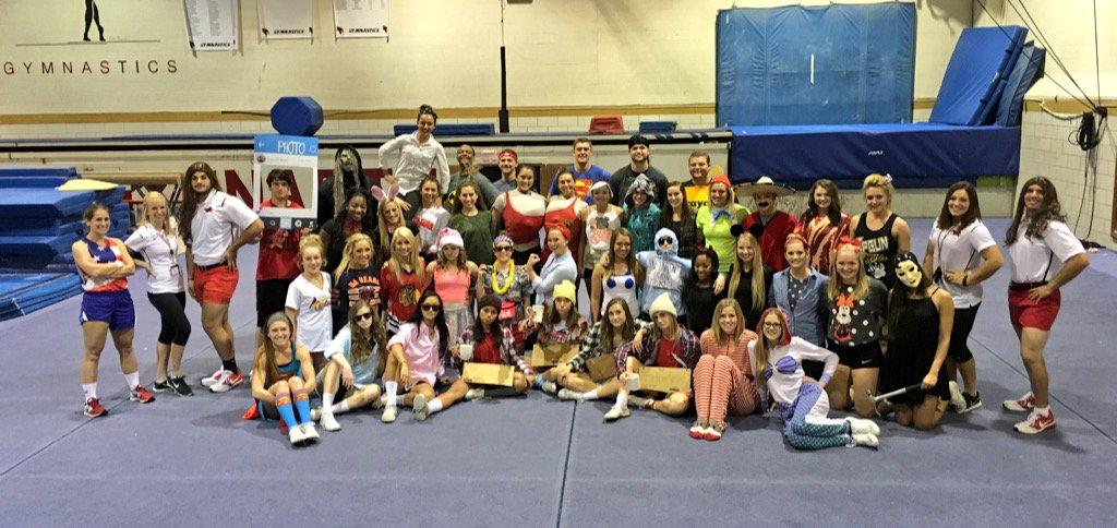 Cheerleaders at practice