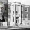 Dr. Rachel Cooper superimposed on building named for her