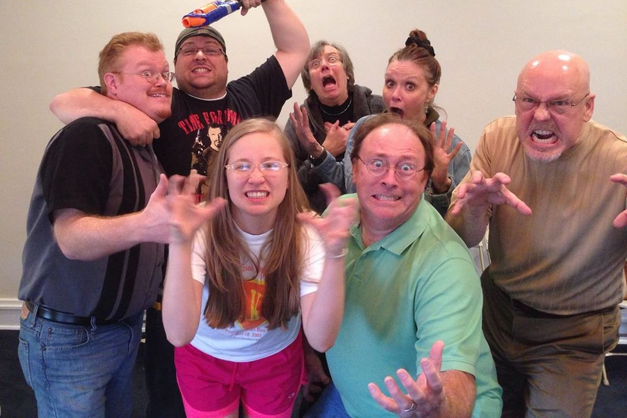Group of people in Improv Attack!