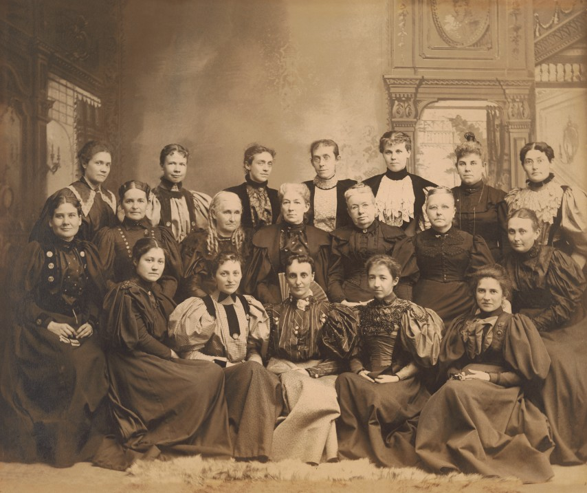 Early members of the Normal History Club, circa 1900.