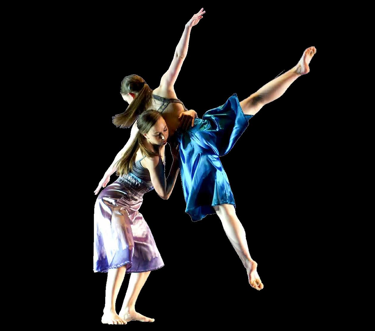 Photo of two dancers from Fall Dance Concert 2015