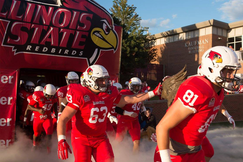 football team running out of tunnel