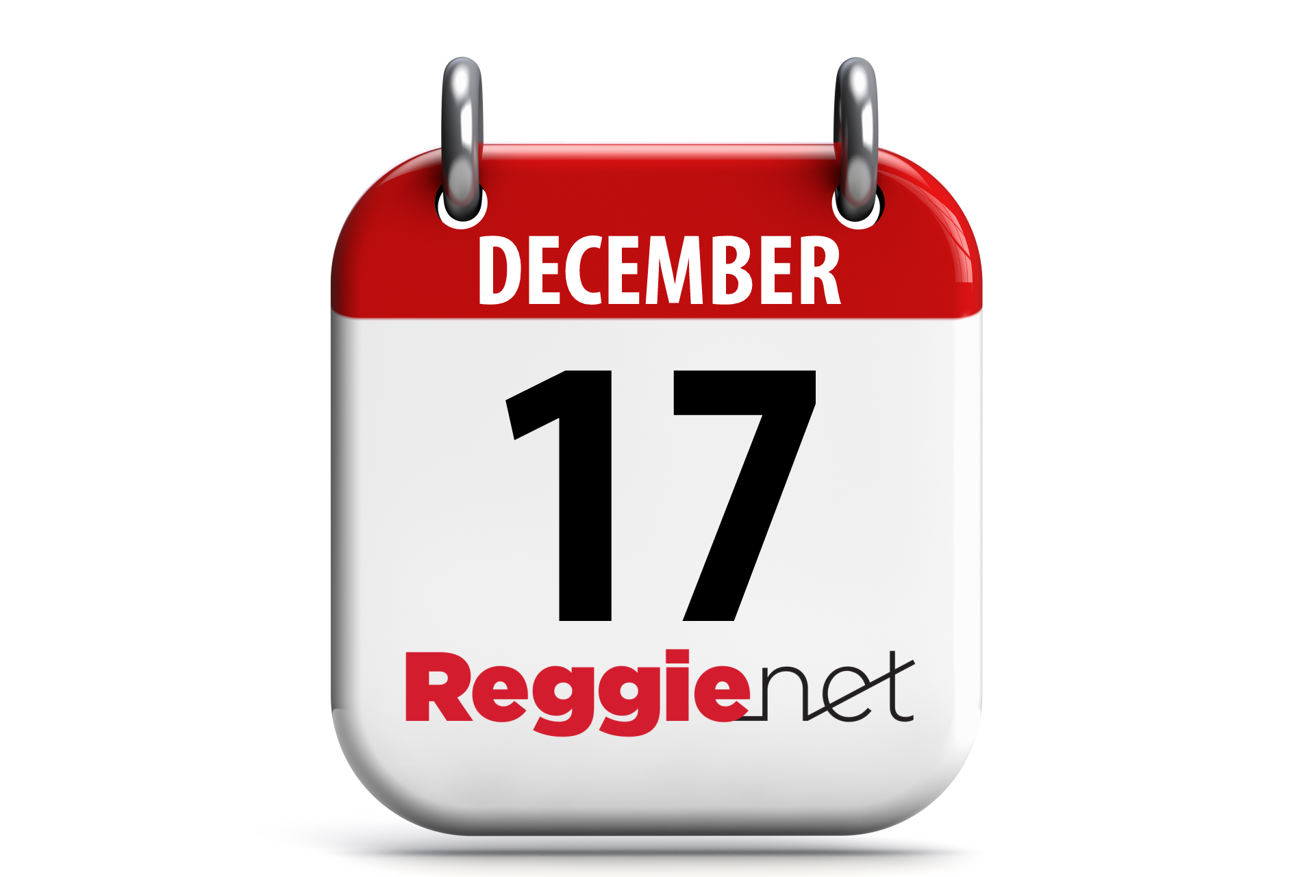 Calendar showing December 17 and ReggieNet logo.