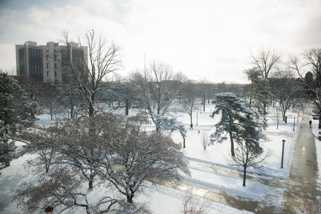 Snow on Quad 2016