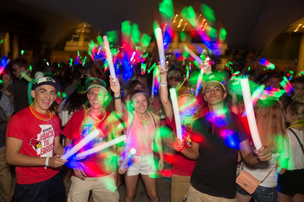 Students at Up Late event