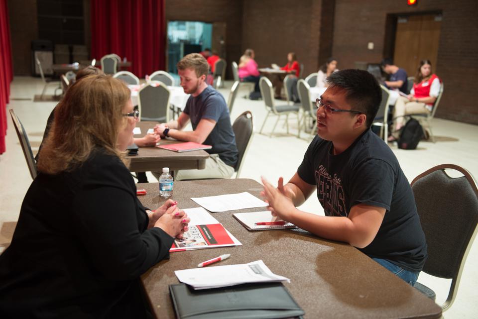 student gets career advice