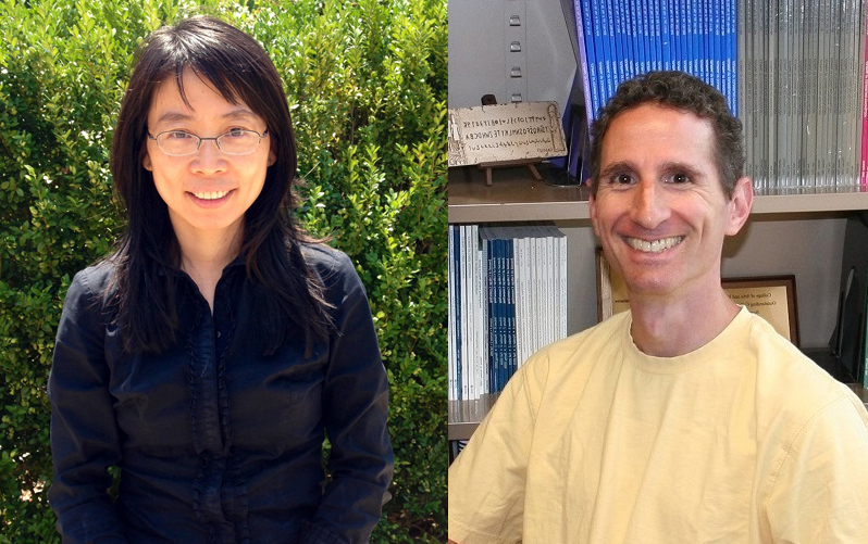 image of Professor in Environmental Health Guang Jin and Professor of Psychology Jeffrey Kahn