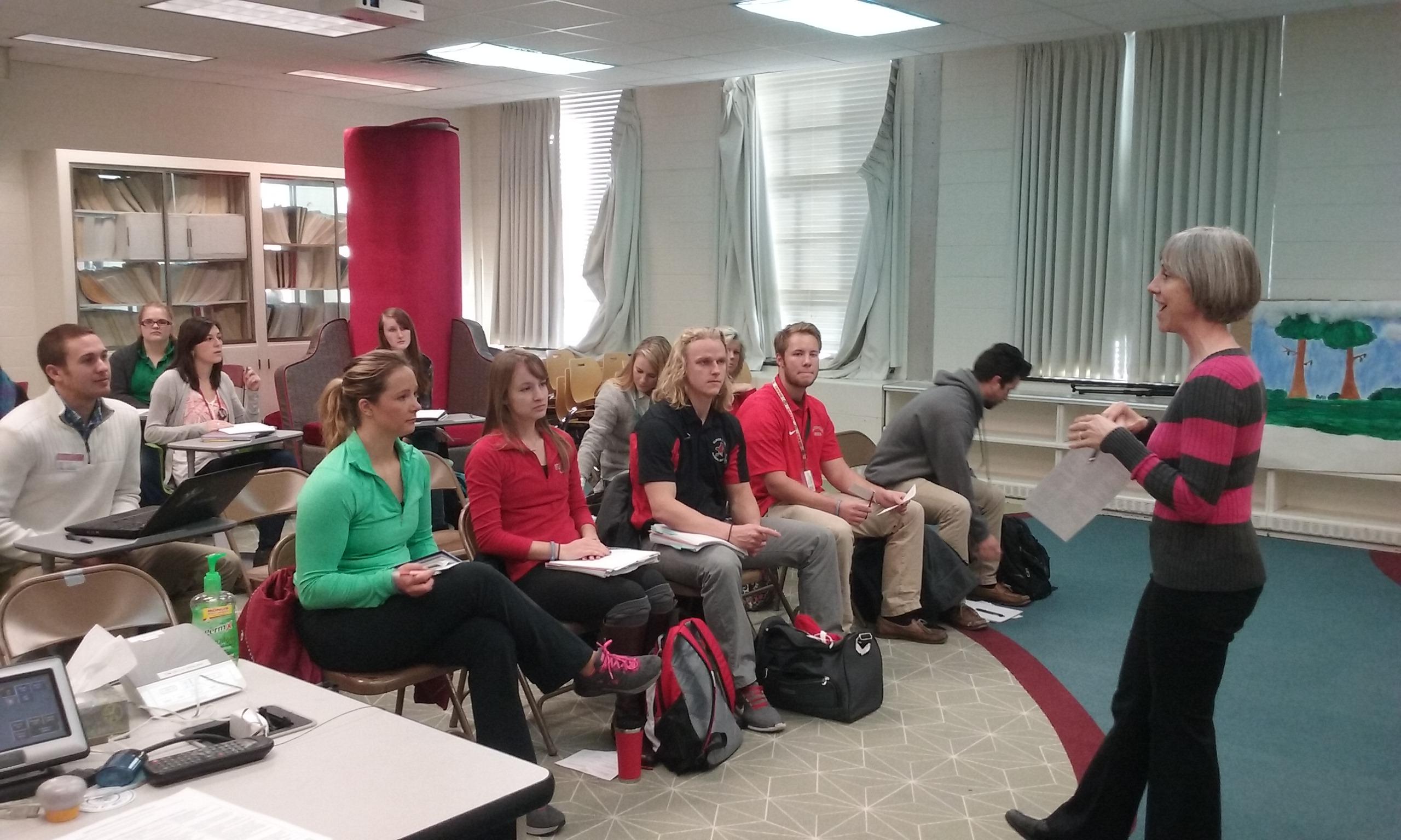 Lab Schools faculty in a classroom