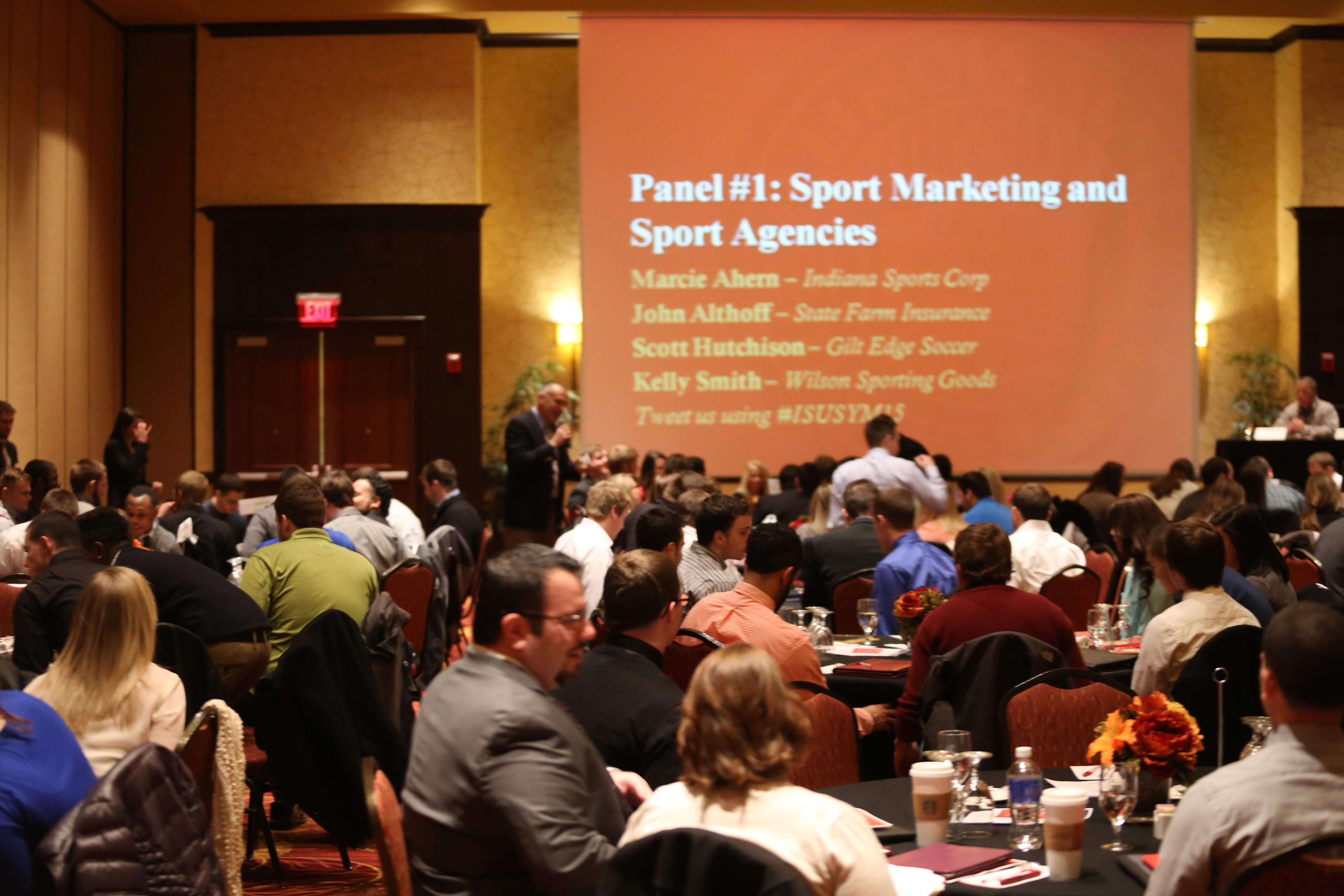Students at Sport Management Symposium