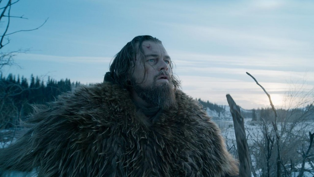 DiCaprio outside in The Revenant