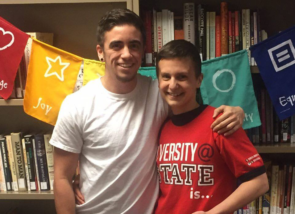 image of Malcolm Ribot (left) and Illinois State student Nay Petrucelli