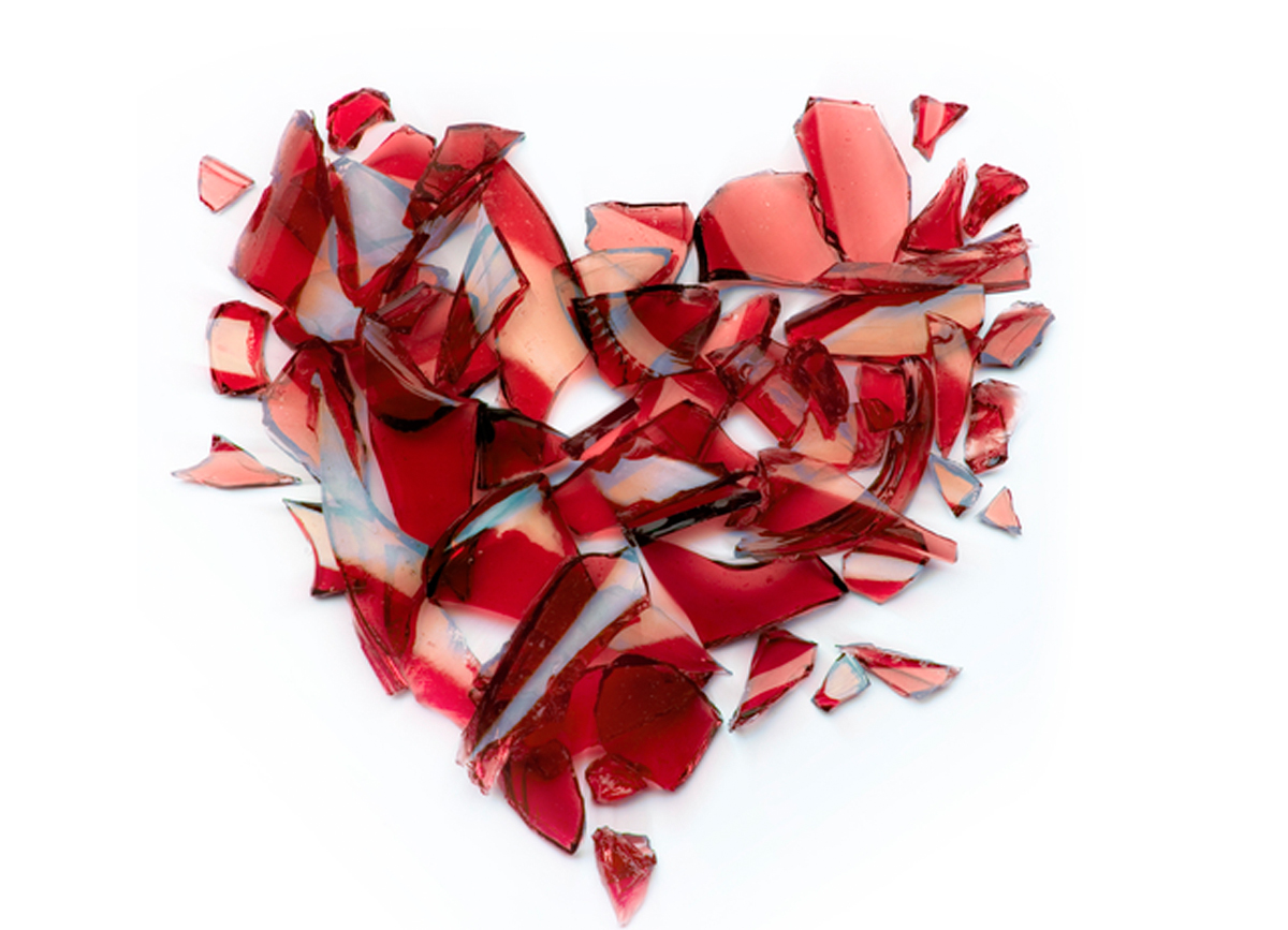 image of a broken heart