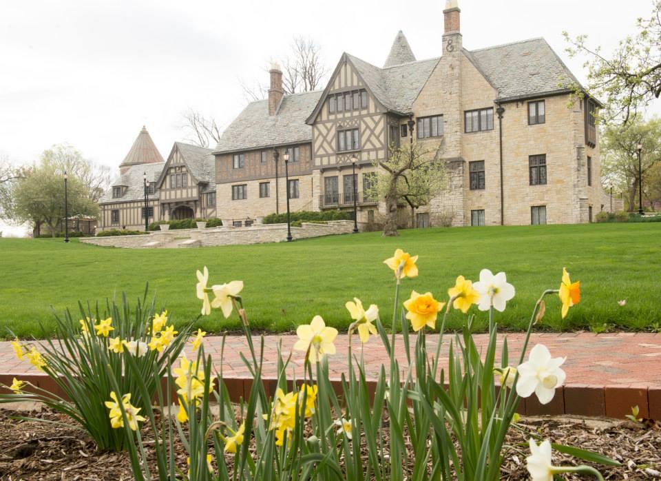 Ewing Manor in spring.