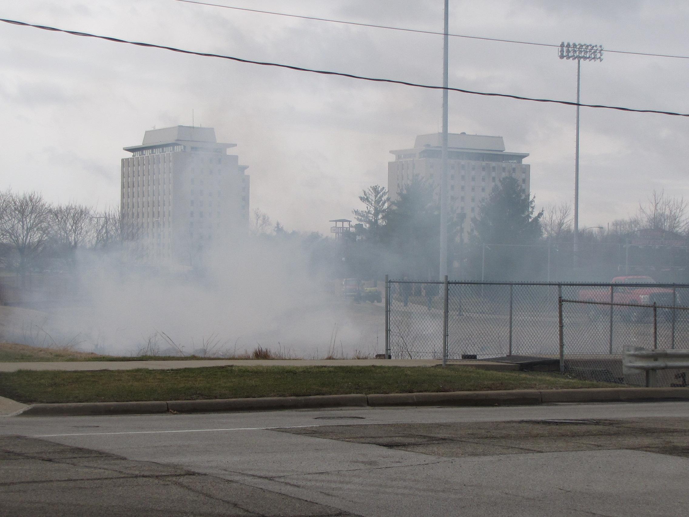 Smoke near Pheasant Creek
