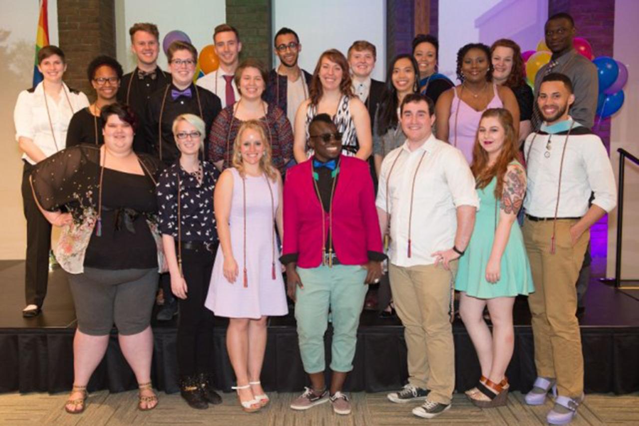 Lavender Graduation students pose