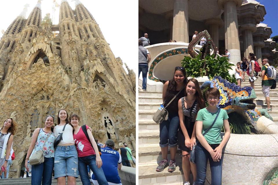Bilingual/bicultural education major Bayza Senbetta studies in Spain during the summer of 2015.
